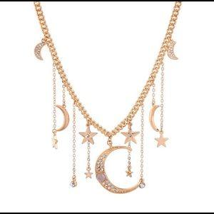 Celestial Short Gold Color Necklace